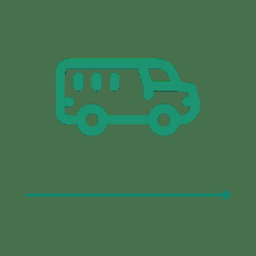 Ikona transportu - 4 etap ścieżki zakupu Carriere Design