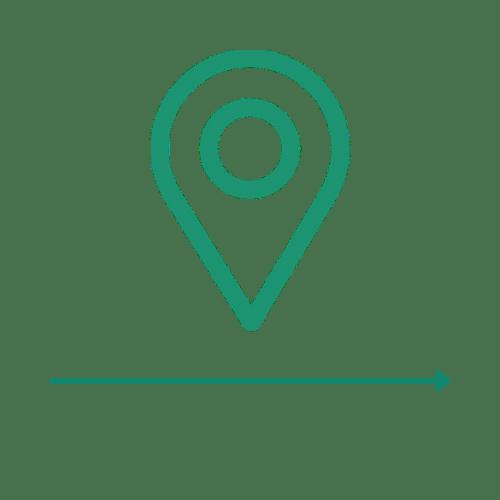 Ikona lokalizacji - 2 etap ścieżki zakupu Carriere Design