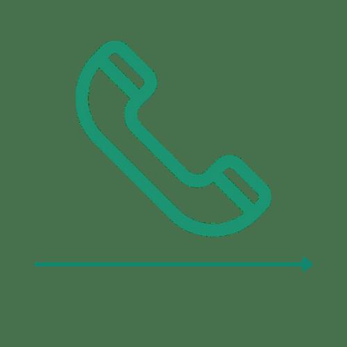 Ikona telefonu - 1 etap ścieżki zakupu Carriere Design