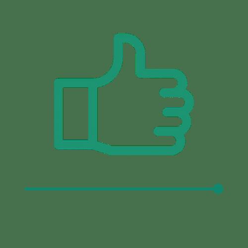 Ikona zadowolenia - ostatni etap ścieżki zakupu Carriere Design