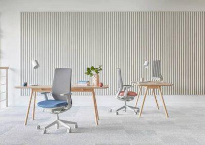 aranżacja foteli biurowych accis pro