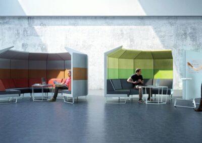 soft seating cave w otwartej przestrzeni