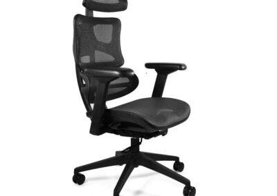 czarny fotel obrotowy ergotech