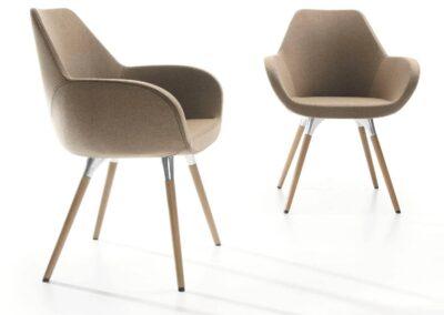 kubełkowe krzesła konferencyjne