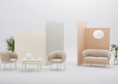 pastelowy soft seating