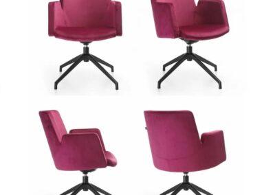 kubełkowe krzesło konferecyjne