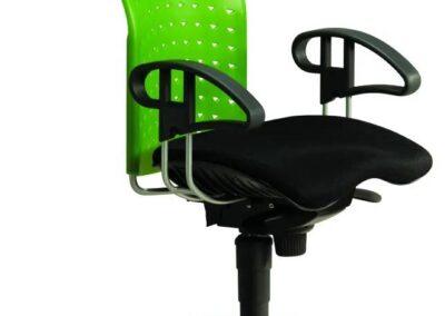 zielone krzesło biurowe reality