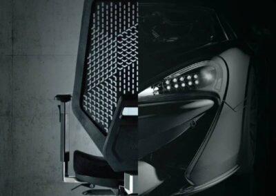 stylistyka sportowych samochodów fotel v6