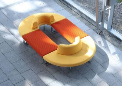 okrągły soft seating