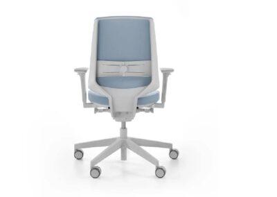 pastelowy fotel obrotowy lightup