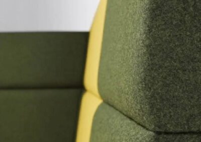 materiał w systemie soft seating
