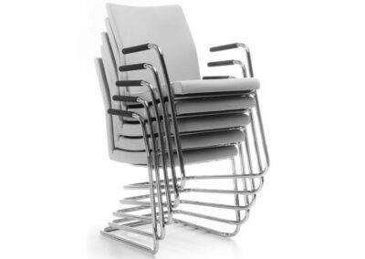 krzesła konferencyjne z podłokietnikami