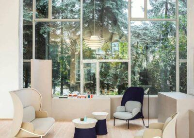 soft seating w nowoczesnym wnętrzu