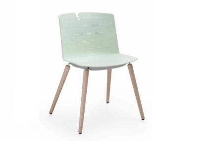 nowoczesne krzesło z kubełkowym siedziskiem