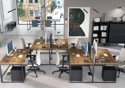 aranżacja przestrzeni z biurkiem net