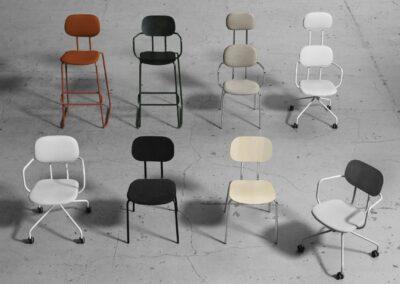 rodzaje krzeseł new school
