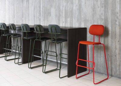 wysokie krzesła new school