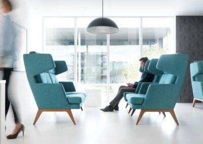 komfortowe fotele soft seating