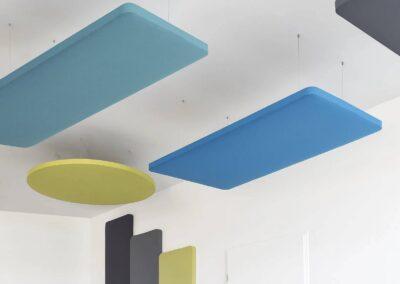 podwieszane panele akustyczne