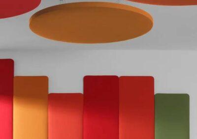 kolorowe panele akustyczne