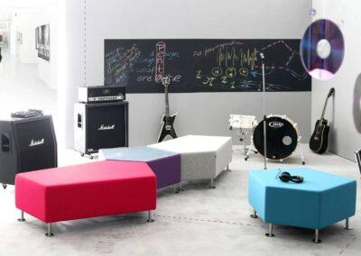 muzyczna aranżacja soft seatingu