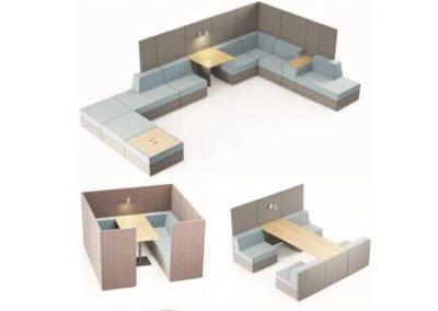 duży wybór kombinacji systemu soft seating