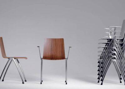 nowoczesne krzesła z podłokietnikami