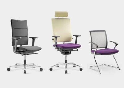 warianty krzeseł i foteli sail