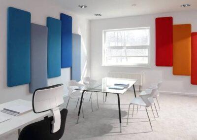 biurowa aranżacja paneli akustycznych