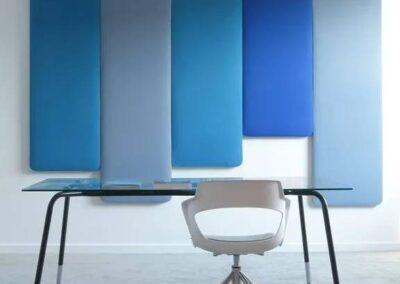 panele akustyczne w biurowej przestrzeni