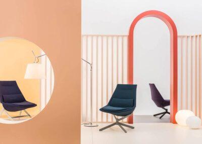 nowoczesna aranżacja foteli soft seating