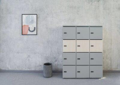 minimalistyczne szafa typu locker