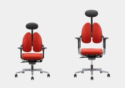 regulowany zagłówek krzesła xenium