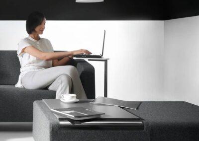 stolik vv work z systemem soft seating voo voo
