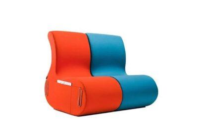 soft seating o obłych kształtach