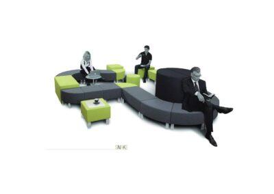 aranżacja soft seating snake