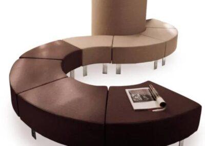 brązowy soft seating