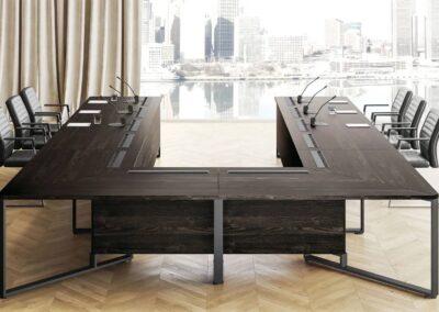 modernistyczny design stołu i meet