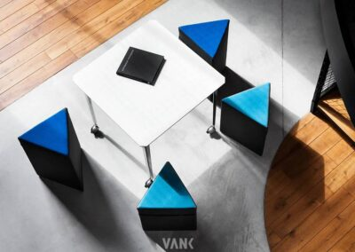 geometryczne kształty soft seatingu