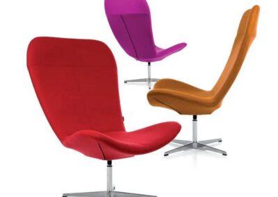 kolorowe fotele soft seating