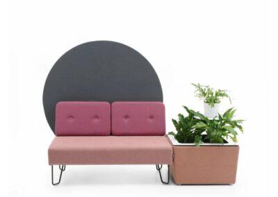 różowy soft seating
