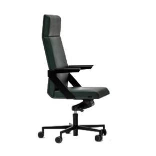 czarny skórzany fotel
